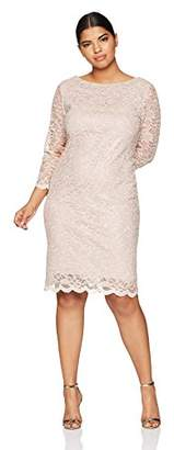 Tiana B Women's Plus Size lace Sheath Dress