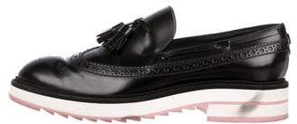 Louis Vuitton Leather Round-Toe Loafers