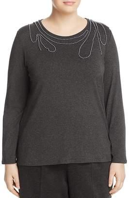 Marina Rinaldi Vapore Embellished Jersey Top