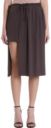 Mauro Grifoni Grey Viscose Long Skirt