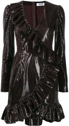 MSGM sequin embellished ruffle dress