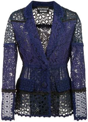Moschino floral lace blazer