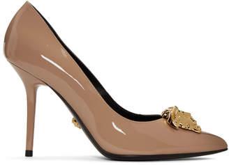 Versace Beige Medusa Tribute Heels