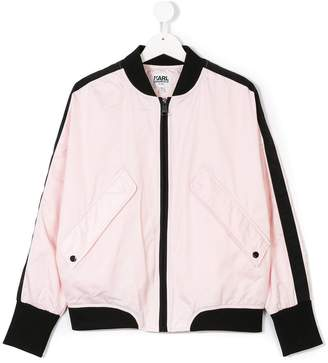 Karl Lagerfeld embroidered bomber jacket