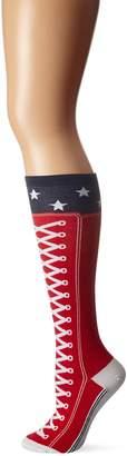 K. Bell Socks Women's High Top Sneaker with Stars Knee High