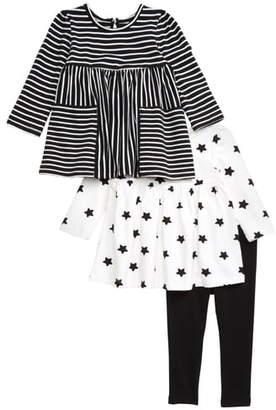 Little Me 3-Piece Dresses & Leggings Set