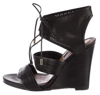 Derek Lam Leather Lace-Up Wedges