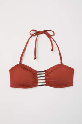 H&M Bandeau Bikini Top with Lacing - Red