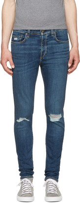 Rag & Bone SSENSE Exclusive Blue Standard Issue Fit 1 Jeans $250 thestylecure.com