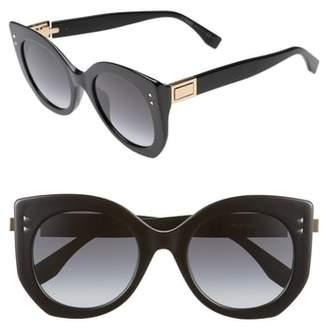 Fendi 52mm Butterfly Sunglasses