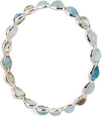 Ippolita Rock Candy Silver All Around Bangle Bracelet in Light Blue