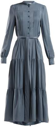 See by Chloe Pleated tie-waist crepe dress