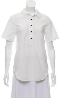 Boy By Band Of Outsiders Button-Up Short Sleeve Top