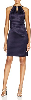 Eliza J Embellished Neck Keyhole Dress $158 thestylecure.com