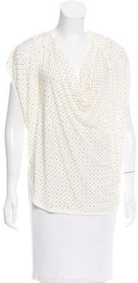 Haute Hippie Draped Bead-Embellished Top
