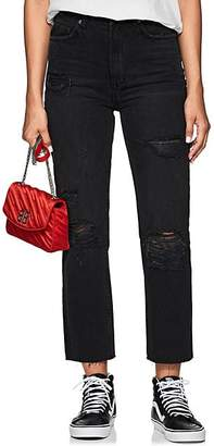 Ksubi Women's Chlo Wasted Distressed Straight Jeans - Black