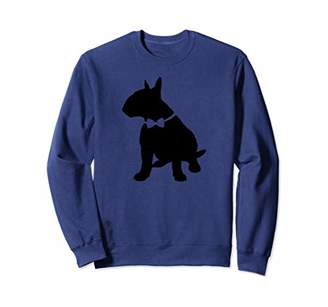 English Bull Terrier Dog With a Bow Tie Sweatshirt