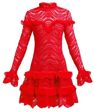 Jonathan Simkhai Ruffled Lace Dress - Womens - Red