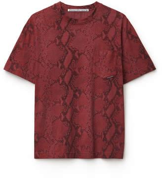 2bb974f22 Alexander Wang Alexanderwang snake print high twist t-shirt