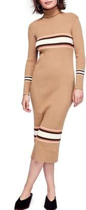 Free People Sport Stripe Midi Sweater Dress