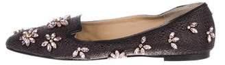 Dolce & Gabbana Embellished Raffia Loafers