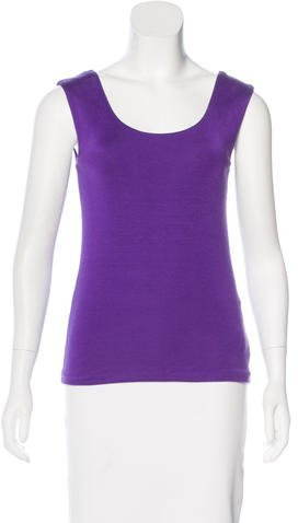 Ralph Lauren Scoop Neck Sleeveless Top