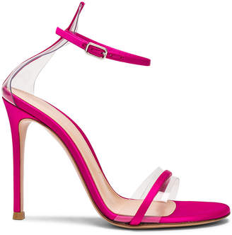 Gianvito Rossi Satin Plexi G String Heels