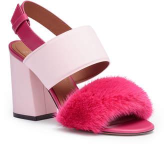 Givenchy Paris pink mink sandals