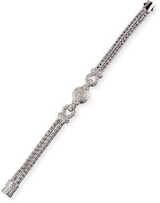 John Hardy Looped Chain Bracelet w/ Pave Diamond Station