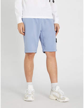 Stone Island Badge patch cotton-jersey shorts