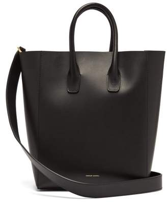 Mansur Gavriel Red Lined Leather Tote - Womens - Black Multi