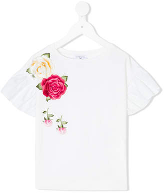 MonnaLisa floral embroidered T-shirt