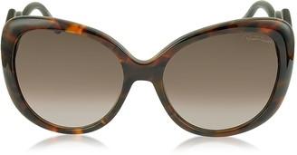 Roberto Cavalli Mintaka 911S 52F Havana Acetate Women's Sunglasses