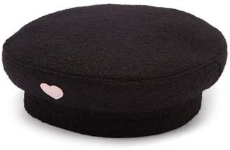 Federica Moretti Basquet heart-appliqué wool cap