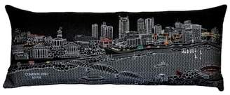 BEYOND CUSHIONS Nashville Embroidered Skyline Pillow