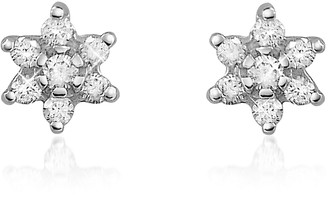Forzieri 0.25 ct Diamond Flower 18K Gold Earrings