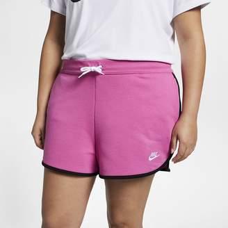 Nike Women's Fleece Shorts (Plus Size Sportswear Heritage