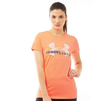 Under Armour Womens Tech Graphic Top Orange