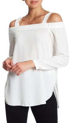 Go Silk go > by GoSilk Go Head & Cold Shoulders Detachable Shoulder Strap Silk Blouse
