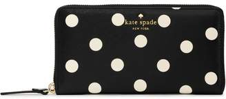 Kate Spade (ケイト スペード ニューヨーク) - Kate Spade New York ポルカドット フェイクテクスチャードレザー ウォレット