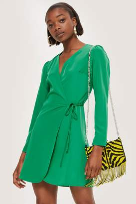 Topshop TALL Wrap Mini Dress