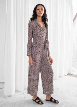 And other stories Long Sleeve Wrap Jumpsuit