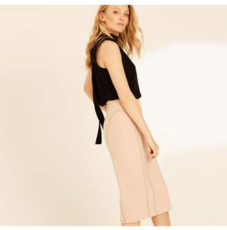 Amanda Wakeley Blush Pencil Skirt With Stitching Detail