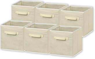 6 Pack - SimpleHouseware Foldable Cloth Storage Cube Basket Bins Organizer