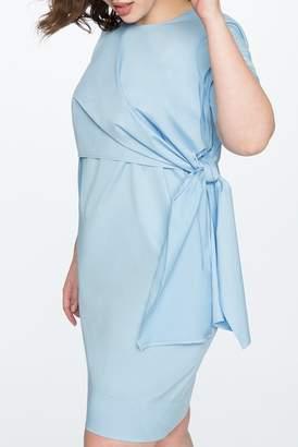 ELOQUII Knot Detail Shift Dress (Plus Size)