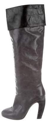 Miu Miu Leather Over-The-Knee Boots