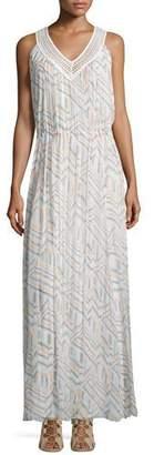 Rebecca Minkoff Simona Geometric-Print Maxi Dress, Geo Print/Multi $398 thestylecure.com