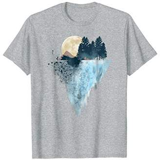 Colored Mountains Geometry Outdoor Hiking T-Shirt Gift