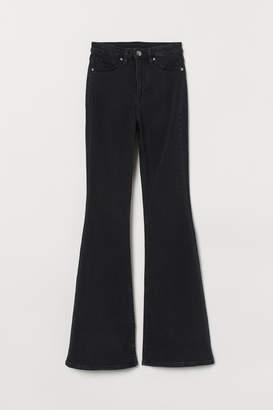 H&M Flared High Jeans - Black