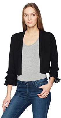 Calvin Klein Women's Shrug with 3 Tier Ruffle